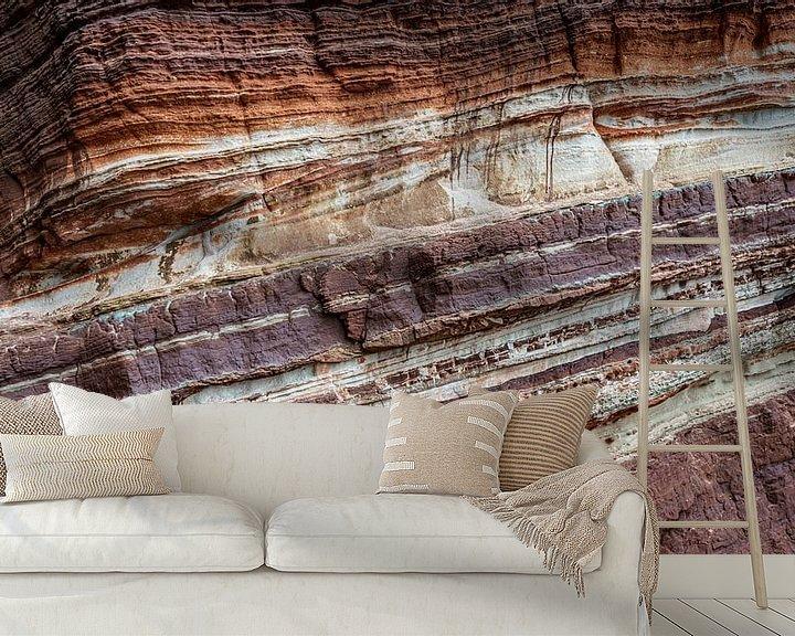 Beispiel fototapete: Felswand-Erosionsstruktur Helgoland von Martijn van Dellen