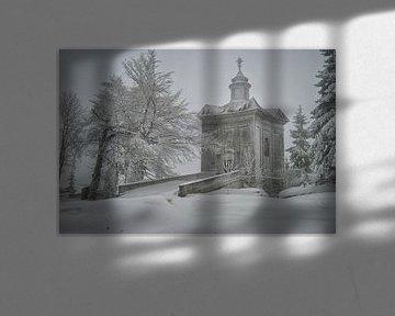 barokke kapel de Hvezda in Tsjechie von Rene du Chatenier