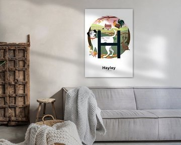 Namensplakat Hayley von Hannahland .