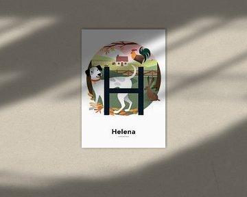 Namensplakat Helena von Hannahland .