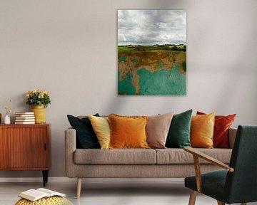 Abstract landschap van Hannie Kassenaar