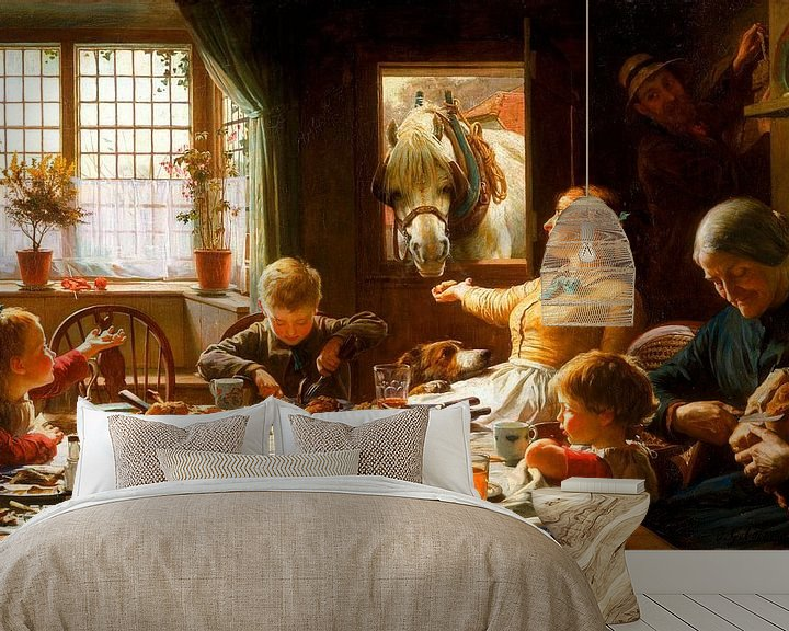 Sfeerimpressie behang: Onderdeel van de familie, Frederic George Cotman