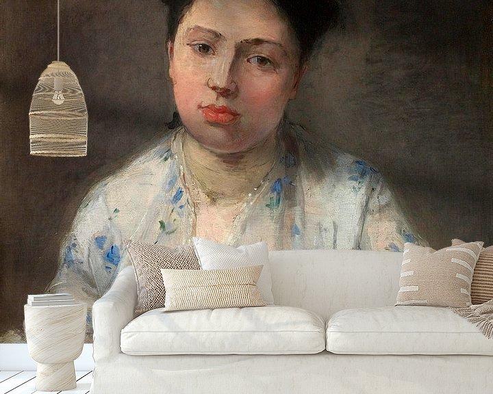 Beispiel fototapete: Junge Frau, Berthe Morisot