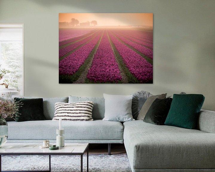 Beispiel: Tulpen im Nebel von Martijn Tilroe
