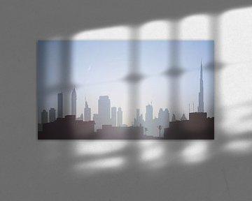 Skyline von Dubai bei Sonnenaufgang von Govart (Govert van der Heijden)