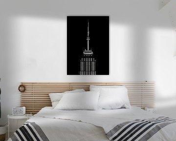 Empire State Building bei Nacht von Govart (Govert van der Heijden)