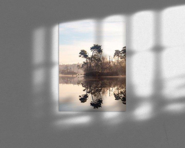 Sfeerimpressie: Vogels in de ochtendmist in Oisterwijk van Evelien Oerlemans