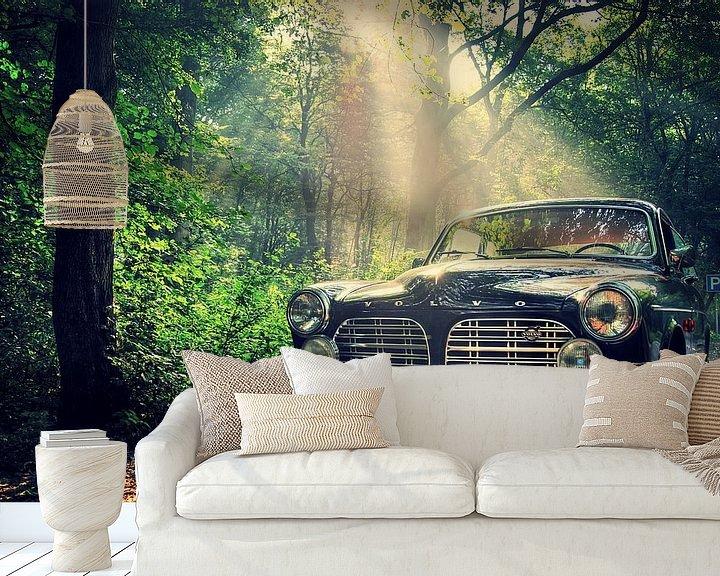 Sfeerimpressie behang: Volvo Amazon  van Remy De Milde
