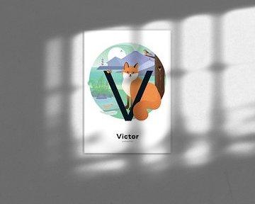 Namensplakat Victor von Hannahland .