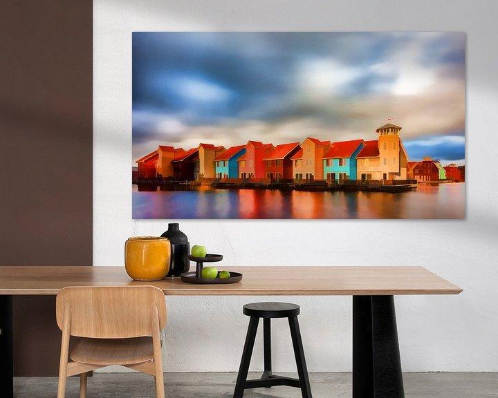 Sfeerimpressie: Impressionistisch Reitdiephaven Groningen van Reina Nederland in kleur