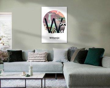 Affiche nominative Willemijn sur Hannahland .