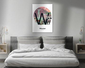 Affiche nominative Wouter sur Hannahland .