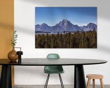 Blick auf die Grand Tetons im Grand-Teton-Nationalpark von Maarten Oerlemans