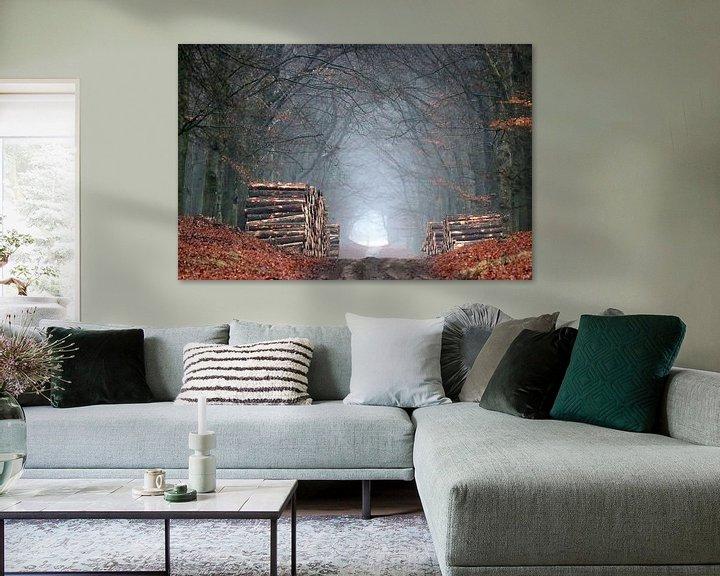 Sfeerimpressie: Een eenzaam stil bos van Herman van Alfen