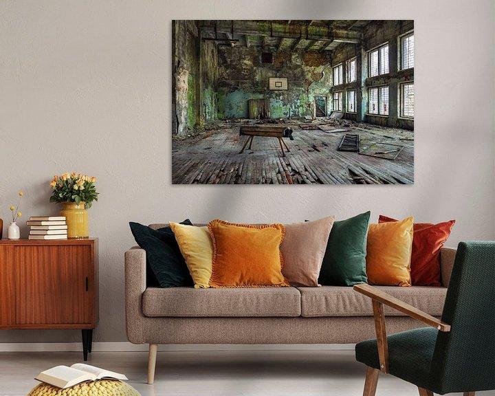 Beispiel: Ukraine, Tschernobyl. Sporthalle. von Maurits van Hout