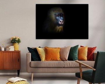 Das nachdenkliche Gesicht eines Madrilenen-Affen Rafiki von Michael Semenov