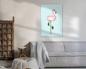 Flamingo Blume von Jonas Loose