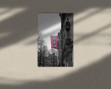 De vlag van Amsterdam. van Marleen Kuijpers