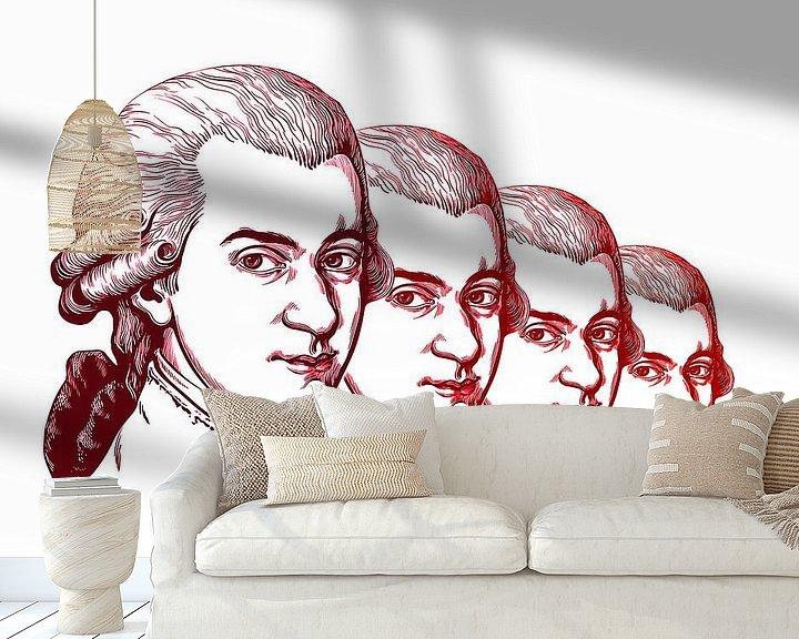 Beispiel fototapete: Wolfgang Amadeus Mozart, Komponist und Musiker von Gert Hilbink
