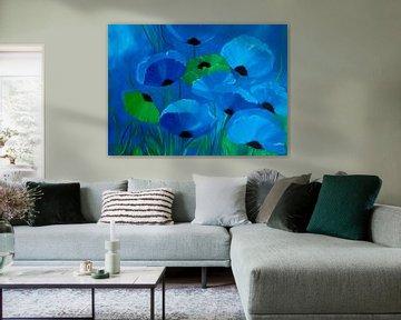 Blauer Mohn von Claudia Neubauer