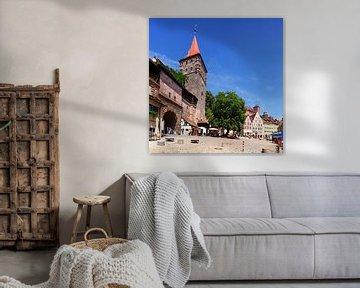Stadttor Tiergärtnertor, Platz am Tiergärtnertor, Nürnberg, Bayern, Deutschland, Europa von Torsten Krüger