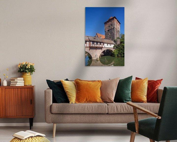 Beispiel: Henkersteg, Altstadt, Nürnberg,  Bayern, Deutschland, Europa von Torsten Krüger