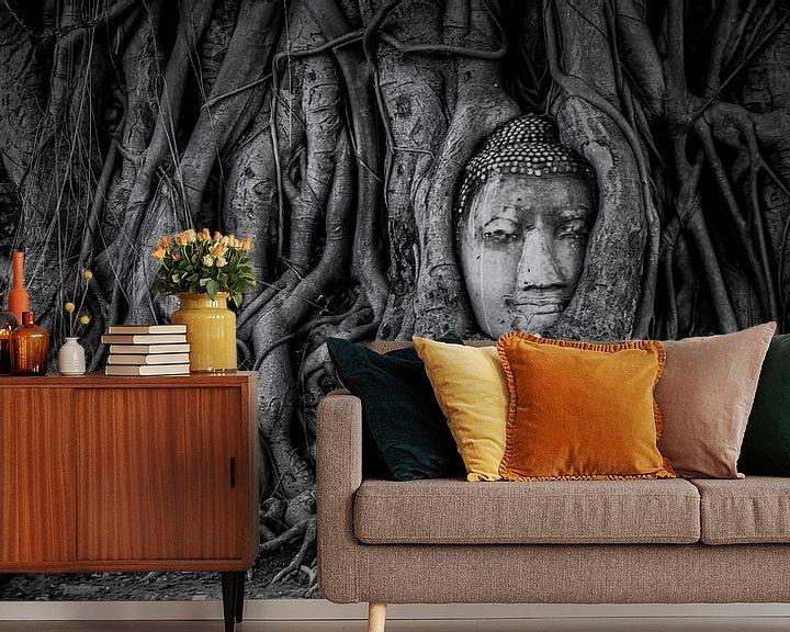Sfeerimpressie behang: Ayutthaya van Manjik Pictures