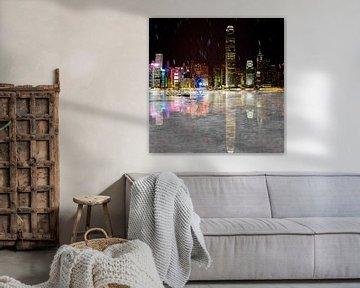 hong kong by night von Stefan Havadi-Nagy