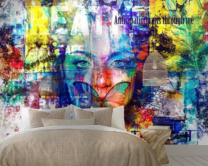 Sfeerimpressie behang: Breathe van Sharon Harthoorn