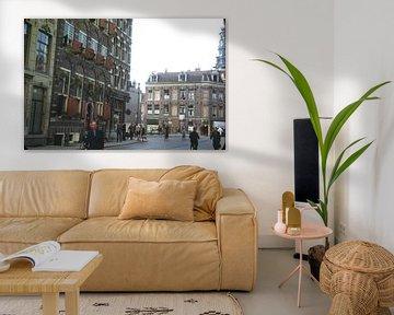 Straatbeeld 50s Amsterdam