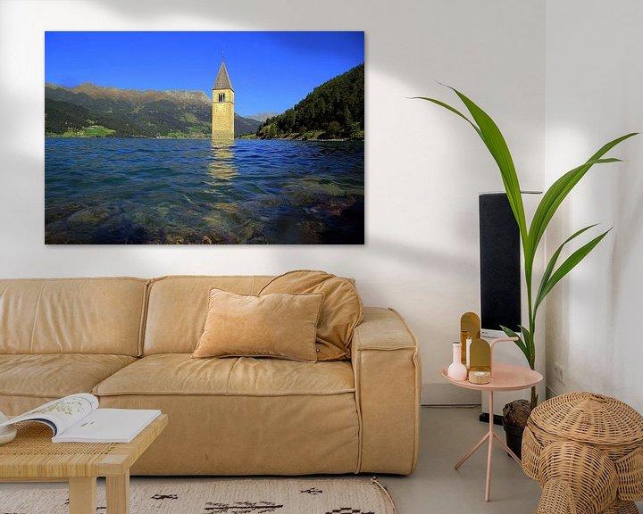 Beispiel: Kirchturm im Reschensee von Patrick Lohmüller