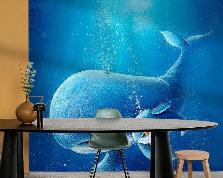 Beispiel fototapete: süßer Walfisch mit Baby von Stefan Lohr