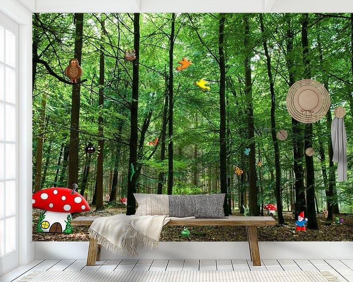 Beispiel fototapete: Gnomen-Wald von Kees-Jan Pieper