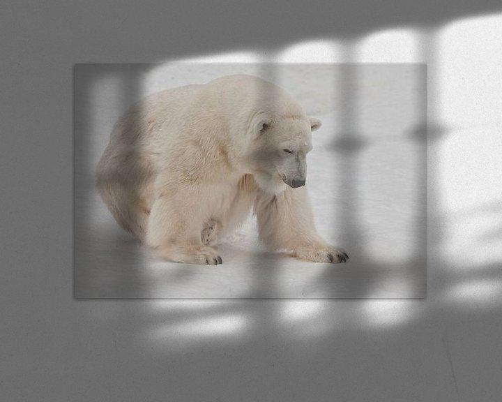 Beispiel: Ein Eisbär auf Schnee ist ein mächtiges nordisches Tier. von Michael Semenov
