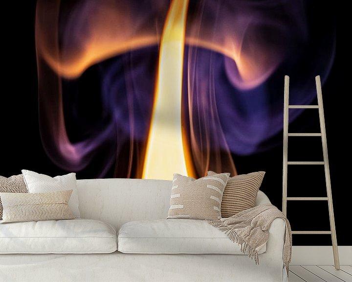 Beispiel fototapete: Wo Rauch ist, da ist auch Feuer. von Helga van de Kar