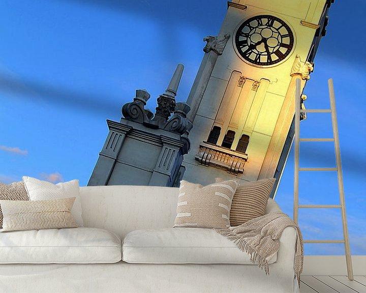 Sfeerimpressie behang: Tour de l'Horloge Montreal van Patrick Lohmüller