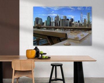 Manhattan Skyline New York van Patrick Lohmüller