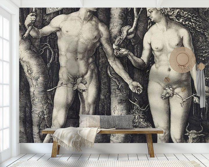Beispiel fototapete: Albrecht Dürer.Adam und Eva