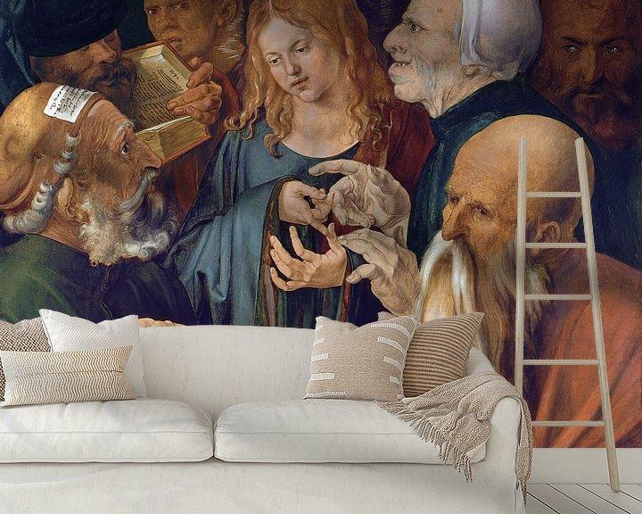 Beispiel fototapete: Albrecht Dürer.Jesus zwischen den Ärzten