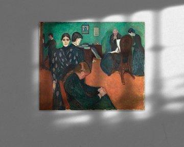 Edvard Munch.Tod auf der Krankenstation