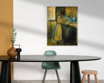 Edvard Munch.Junge Frau wäscht sich
