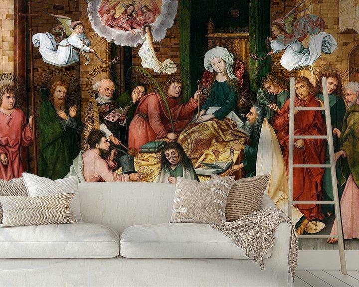 Beispiel fototapete: Hans Holbein.Schlafzimmer der Jungfrau