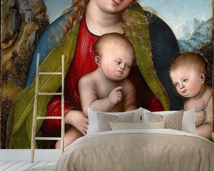 Beispiel fototapete: Lucas Cranach.Madonna mit Kind und das Johanneskind