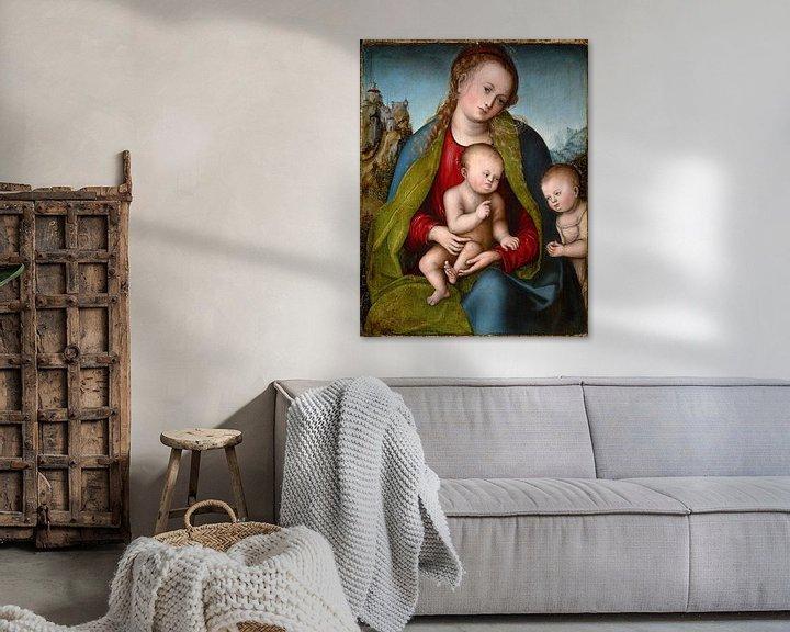 Beispiel: Lucas Cranach.Madonna mit Kind und das Johanneskind