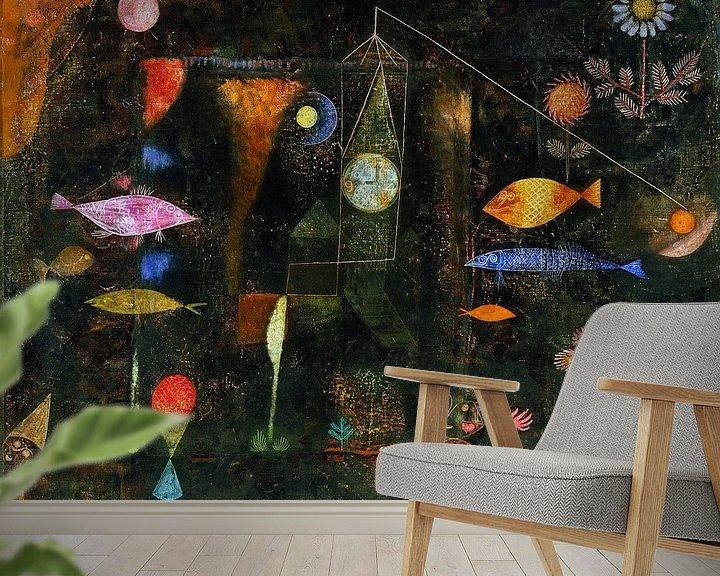 Beispiel fototapete: Paul Klee.Fischzauber