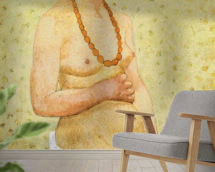 Beispiel fototapete: Paula Modersohn Becker.Selbstporträt schwanger