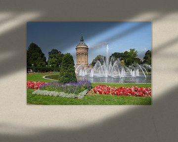 Château d'eau, Friedrichsplatz, Mannheim, Bade-Wurtemberg, Allemagne, Europe sur Torsten Krüger