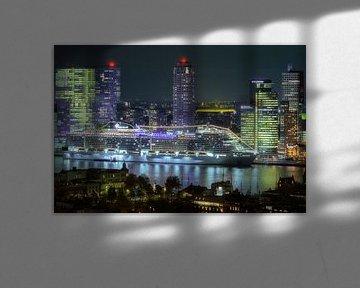 Kreuzfahrtschiff in Rotterdam von Roy Poots