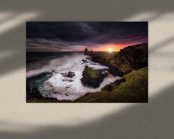 Storm in IJsland van Roy Poots