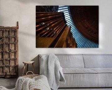 Orgel einer Kirche in Helsinki - Finnland von Roy Poots